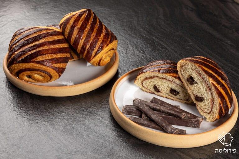 קרואסון שוקולד פתוח